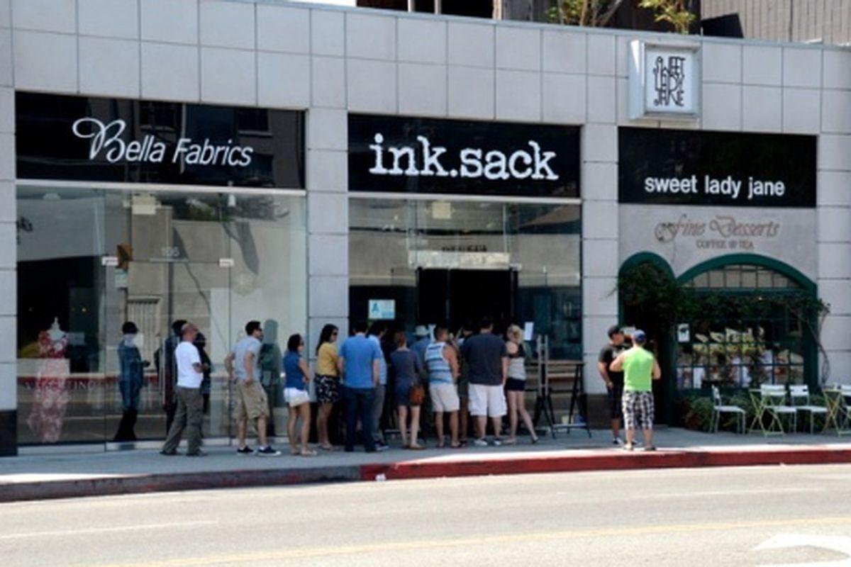 11AM Sunday morning outside ink.sack.