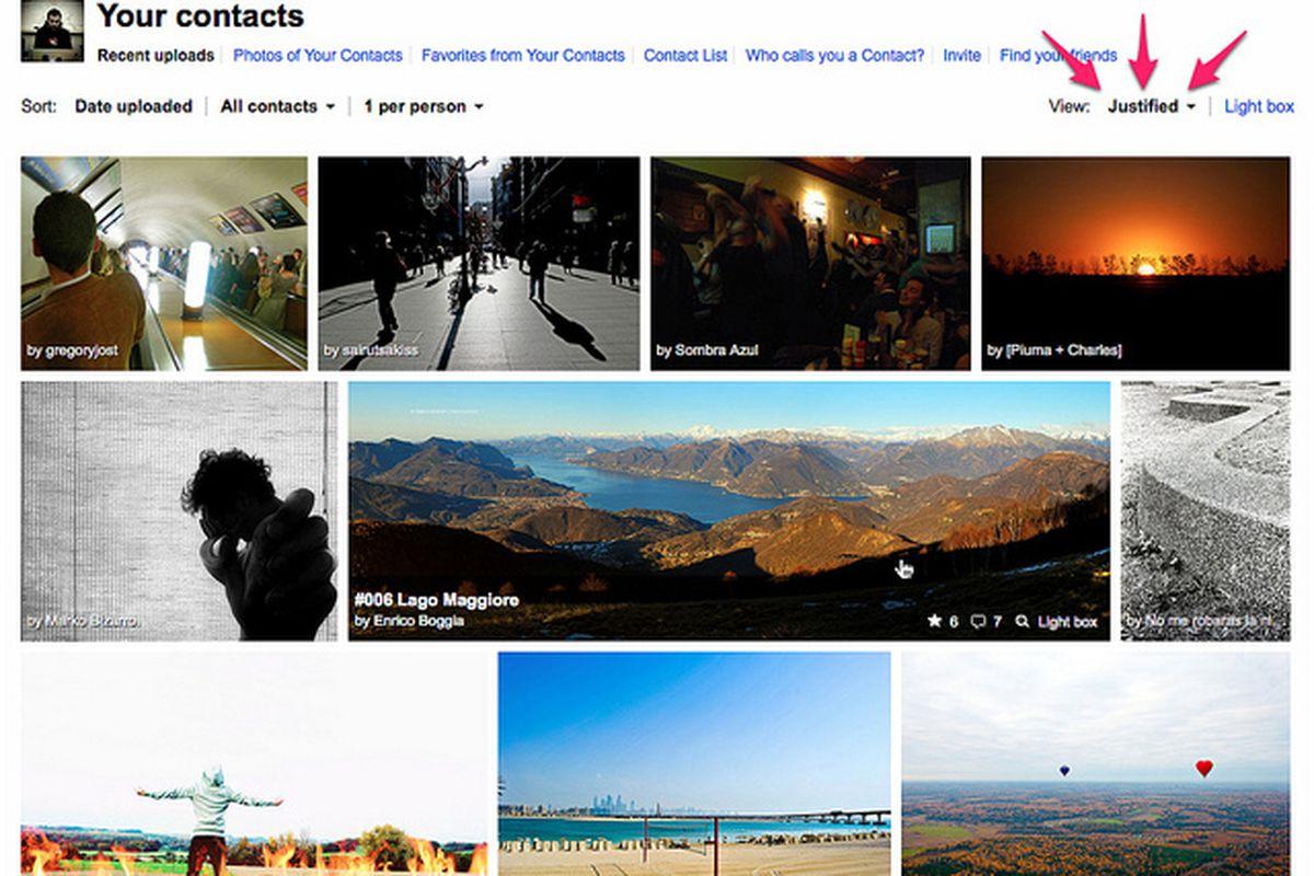 Flickr justified view