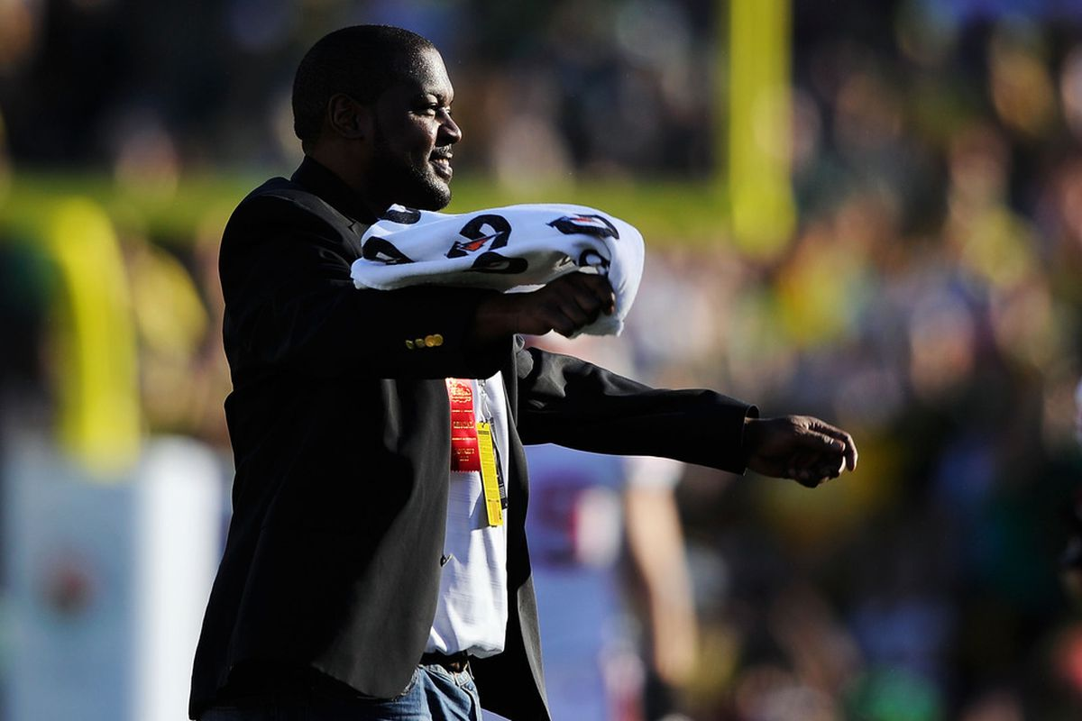 Ron Dayne upon being introduced as a member of the Rose Bowl Hall of Fame on Jan. 2, 2012.