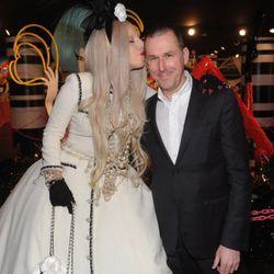 Lady Gaga with Barneys CEO Mark Lee
