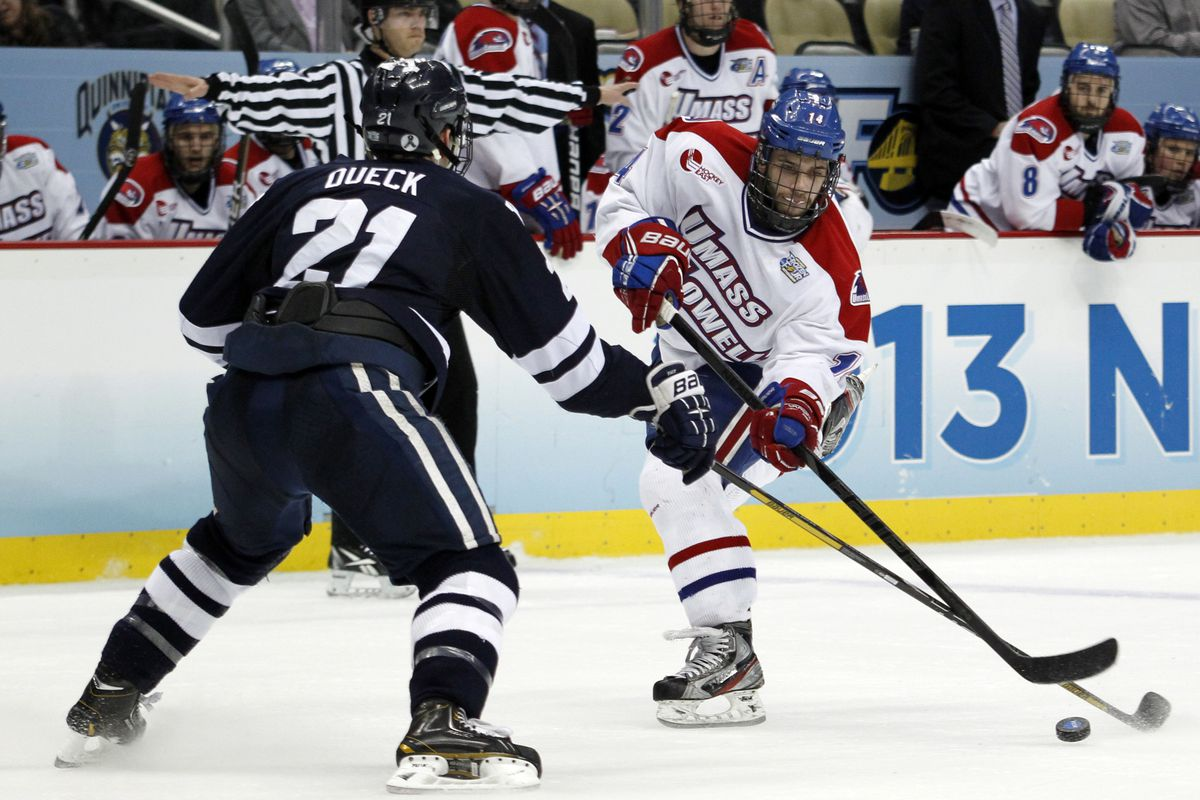 Joseph Pendenza and his teammates will be part of a banner raising ceremony Friday night at Tsongas Arena.