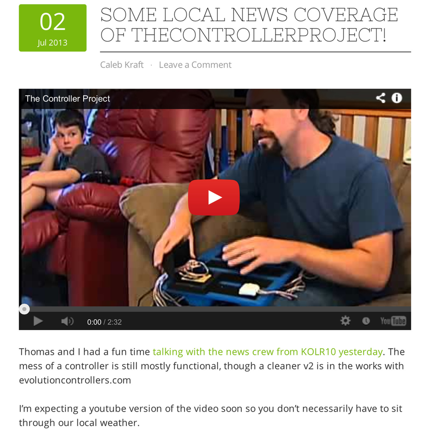 The Controller Project aims to help disabled gamers with
