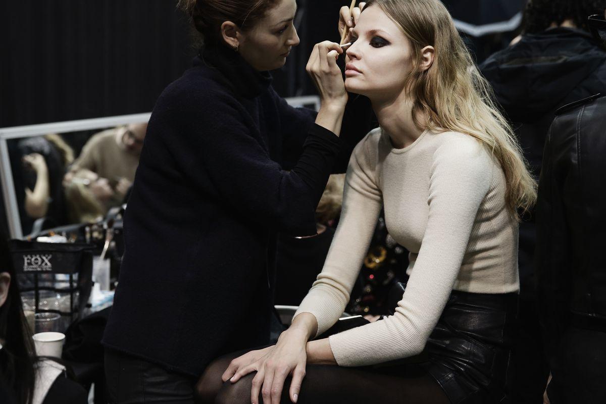 Backstage at Elie Saab. Photo: Vittorio Zunino Celotto/Getty Images