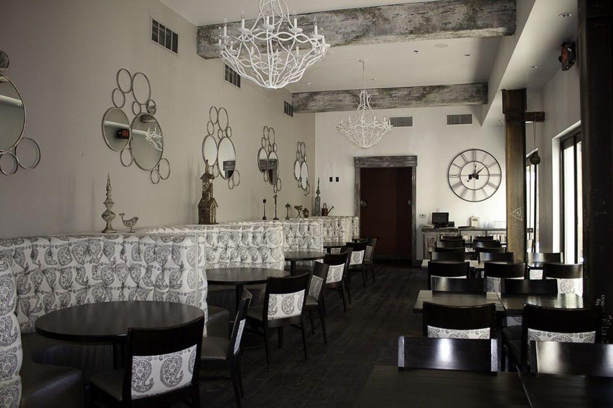 The dining room at Poppy Den.