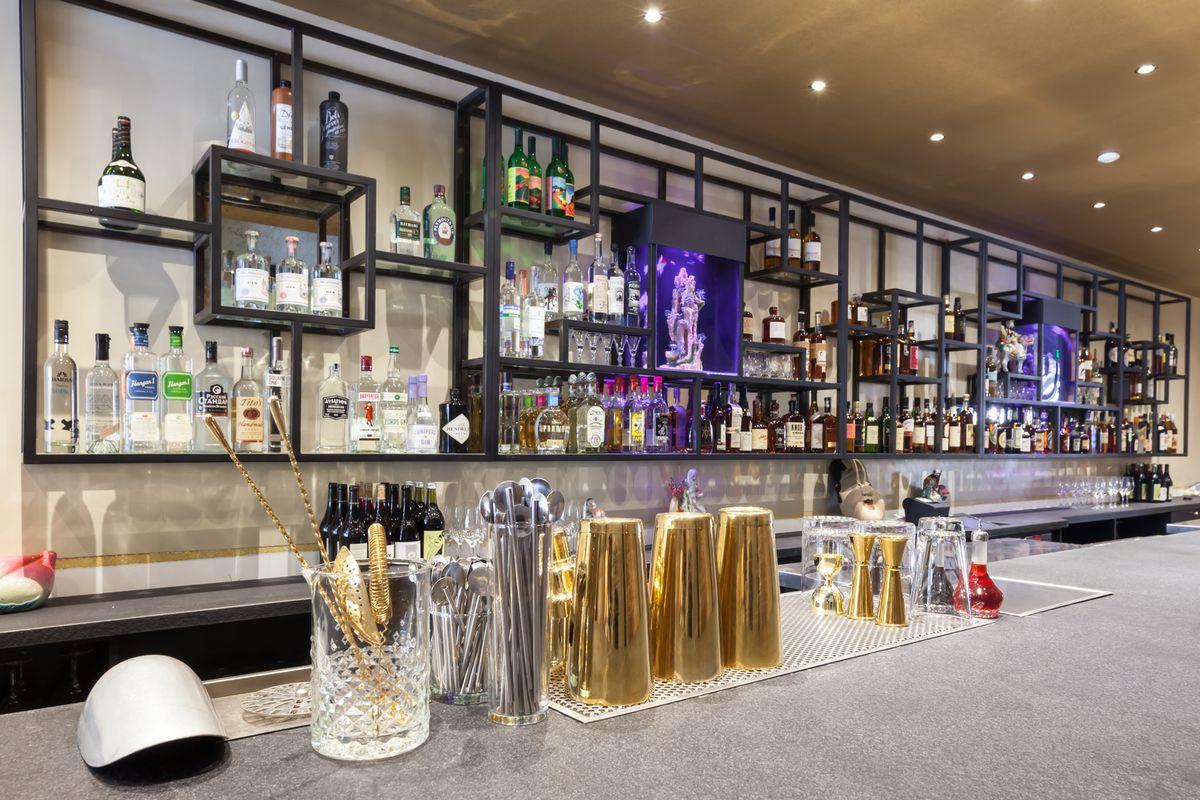 The bar at Mister Jiu's