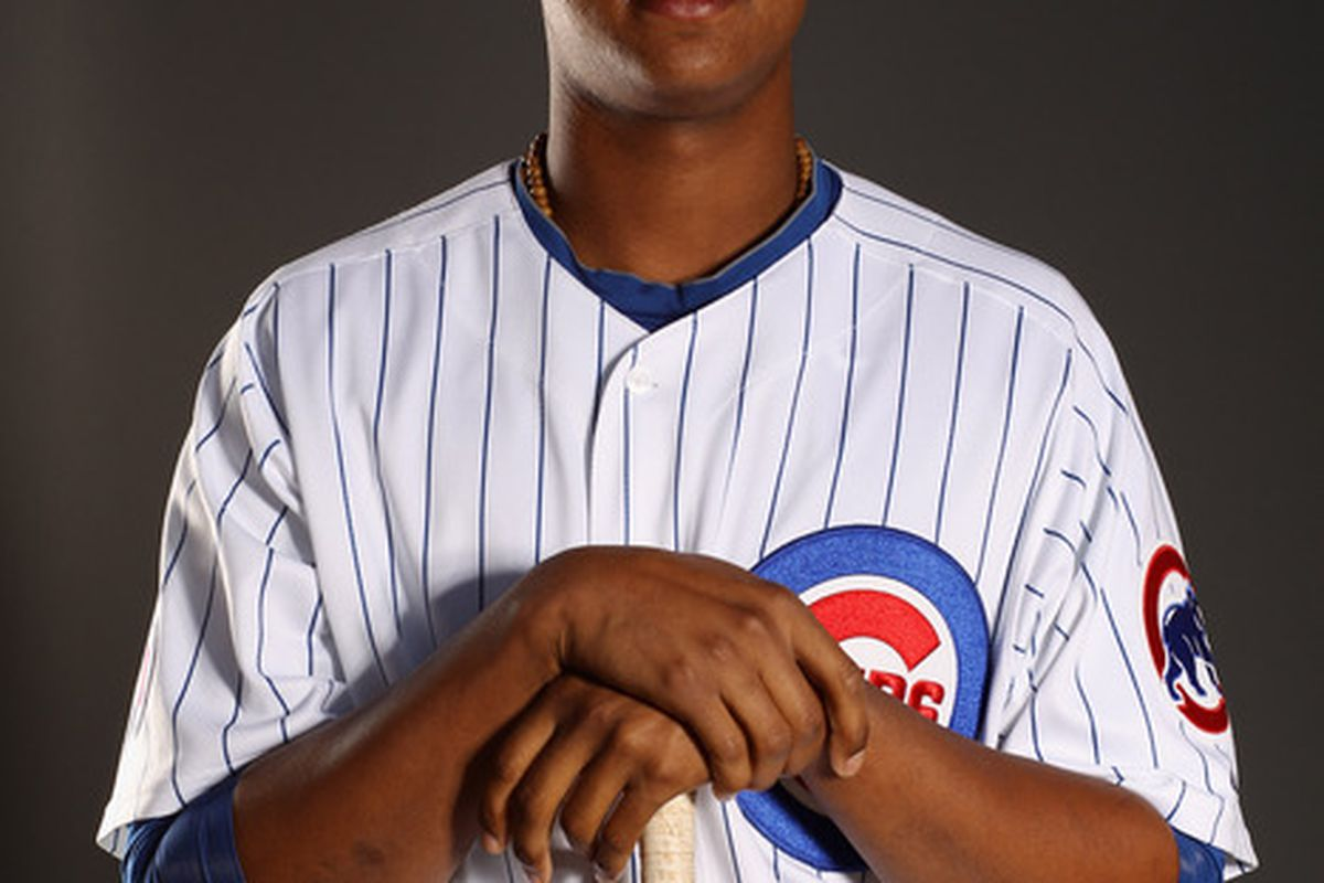 Hey, Starlin Castro. Smile! You're 21 today. (Photo by Ezra Shaw/Getty Images)