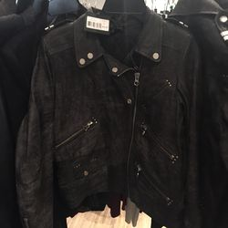 Leather jacket, $295 (from $895)