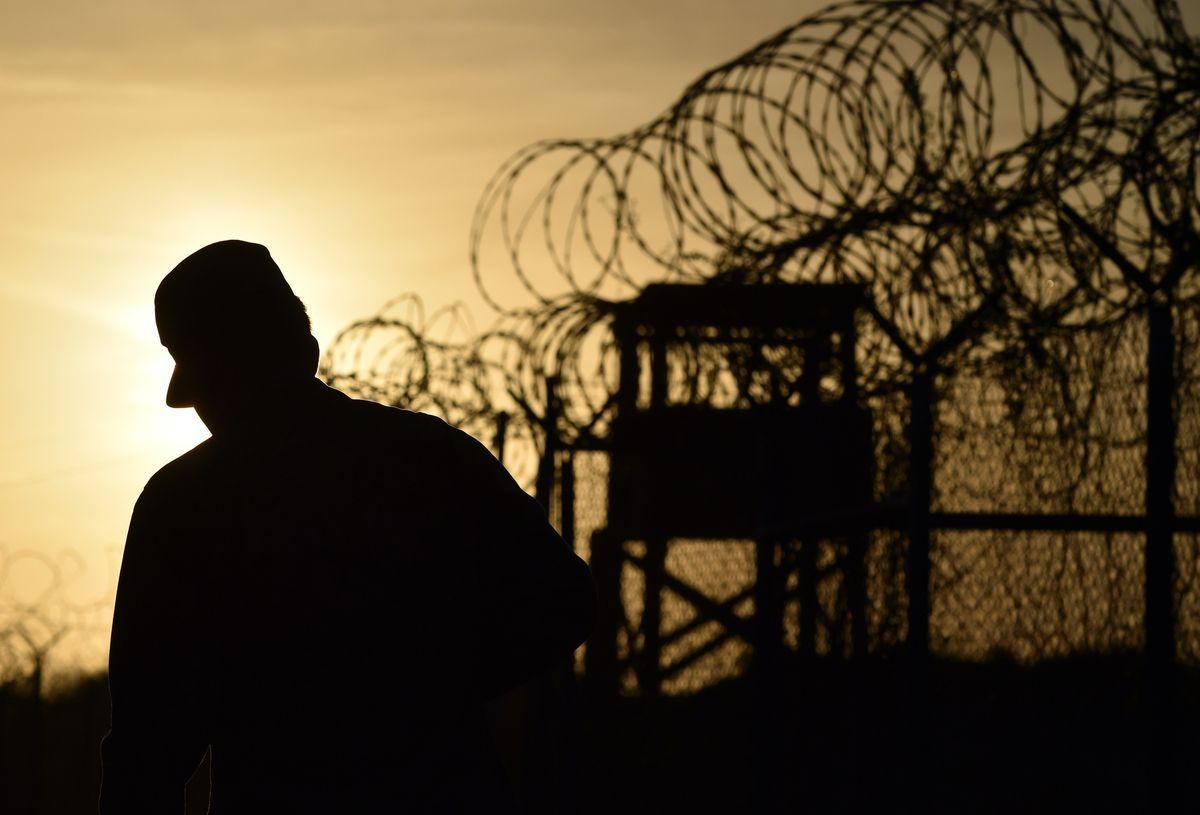 A soldier at Guantanamo Bay.