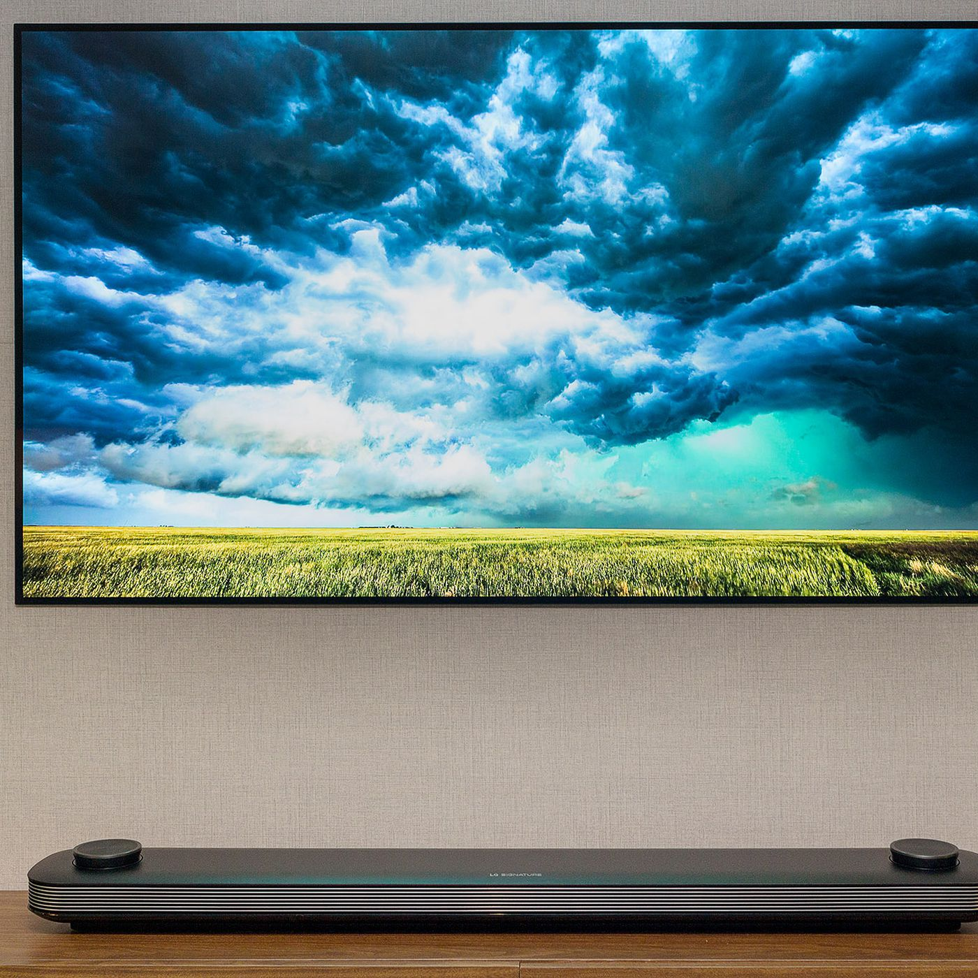 LG s new 77 inch OLED wallpaper TV is now available for the price of a new car The Verge