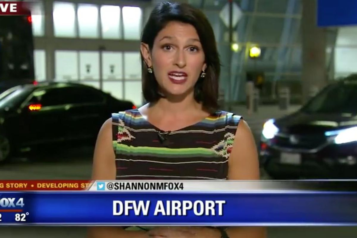 Dallas TV reporter keeps her cool as a huge spider crawls on