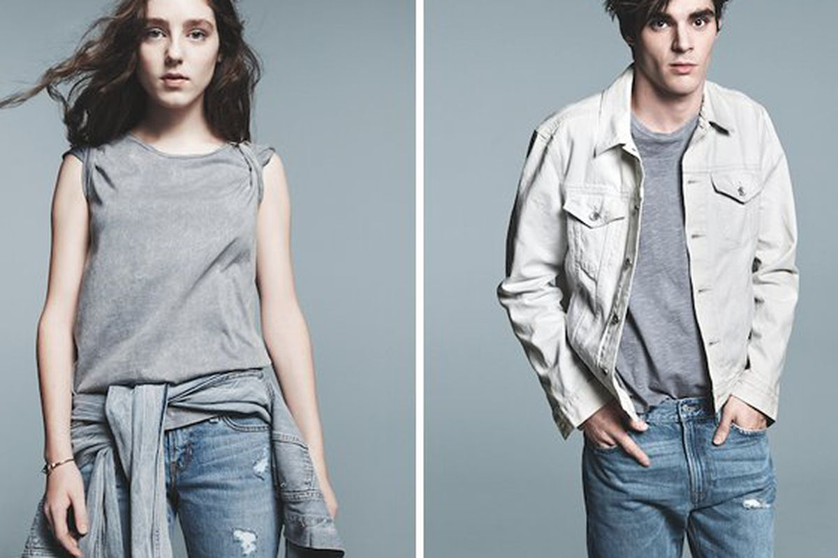 Gap's look for spring. Images via Fashionista.