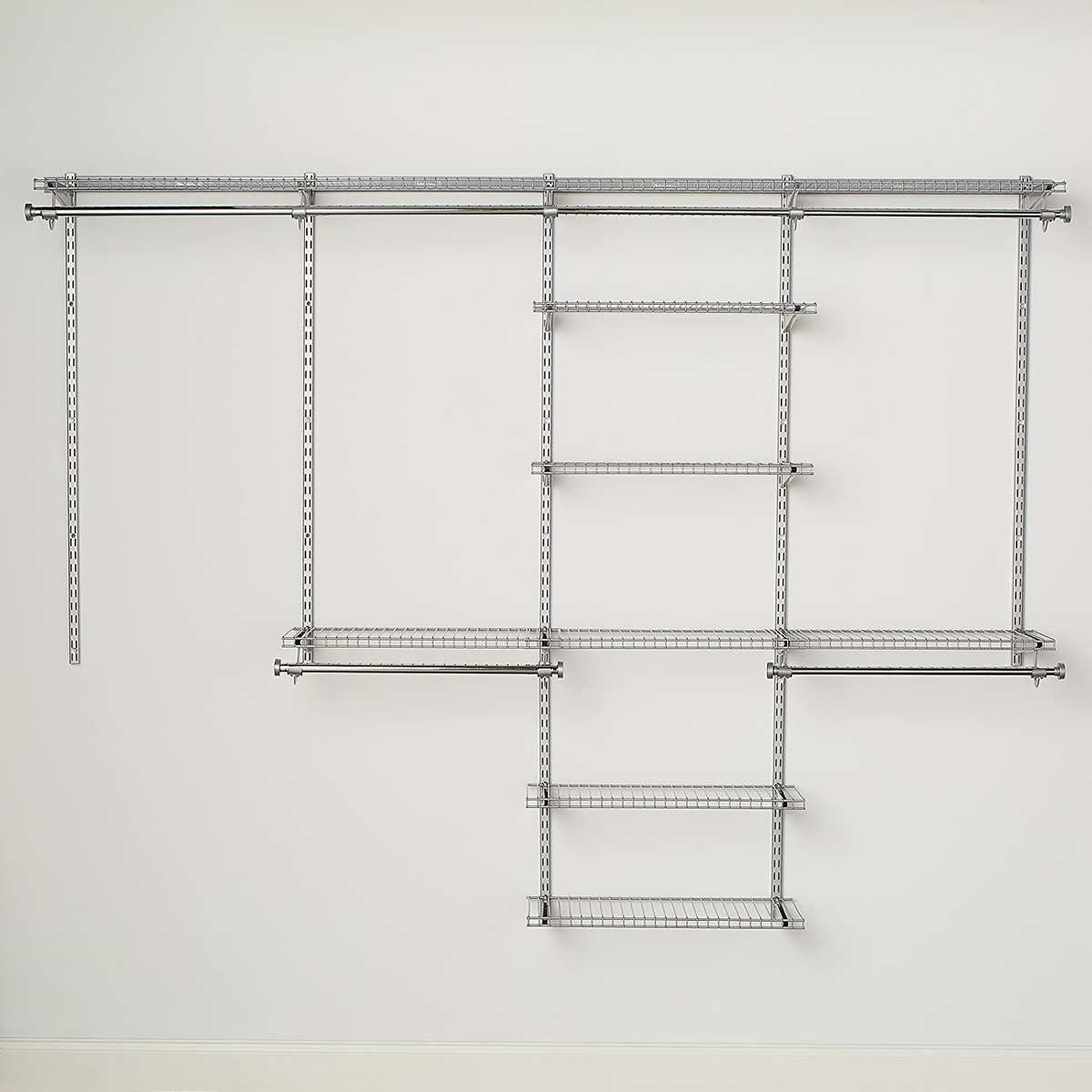 Metal frames on a wall.