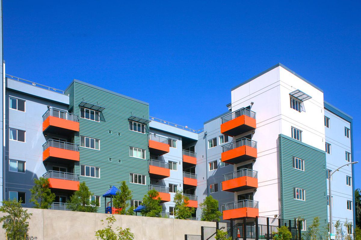 An affordable housing complex in Los Angeles, where 75 percent of residents do not make enough money to purchase a home.