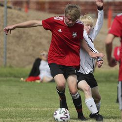 Park City and Morgan play in the Graduation Cup championship match in Farmington on Saturday, June 13, 2020.