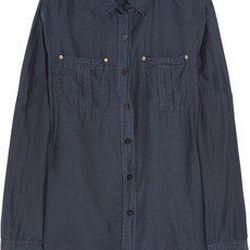 """<a href=""""http://www.net-a-porter.com/product/187784"""">MICHAEL Michael Kors Cotton and silk-blend shirt</a> , $50 (was $100)"""