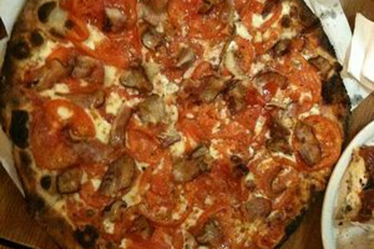 Here is some pizza
