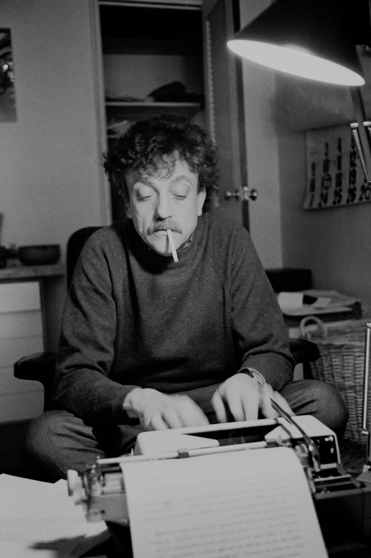 Writer Kurt Vonnegut At Home