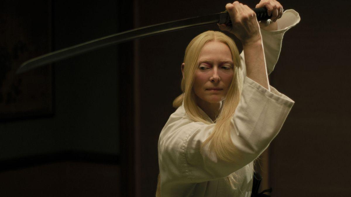 Tilda Swinton as a katana-wielding mortician.
