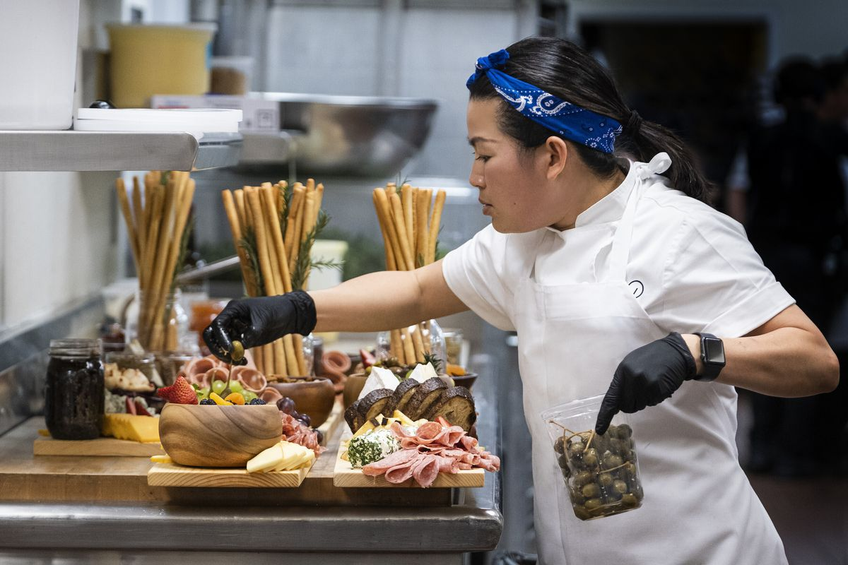 """This image released by HBO Max shows Chef Pauline in a scene from the four-part documentary series, """"The Event,"""" which shows the intense planning and details that go into high-profile catering."""