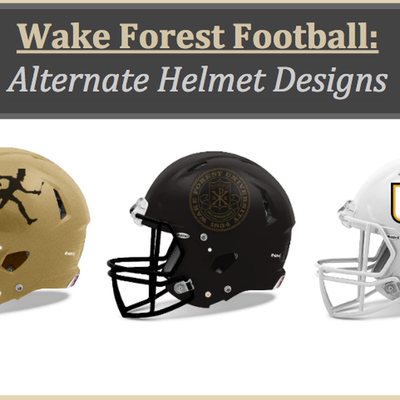 4ea1e8528 Wake Forest Football: New Uniforms? Check Out a Few Alternate Helmet Designs
