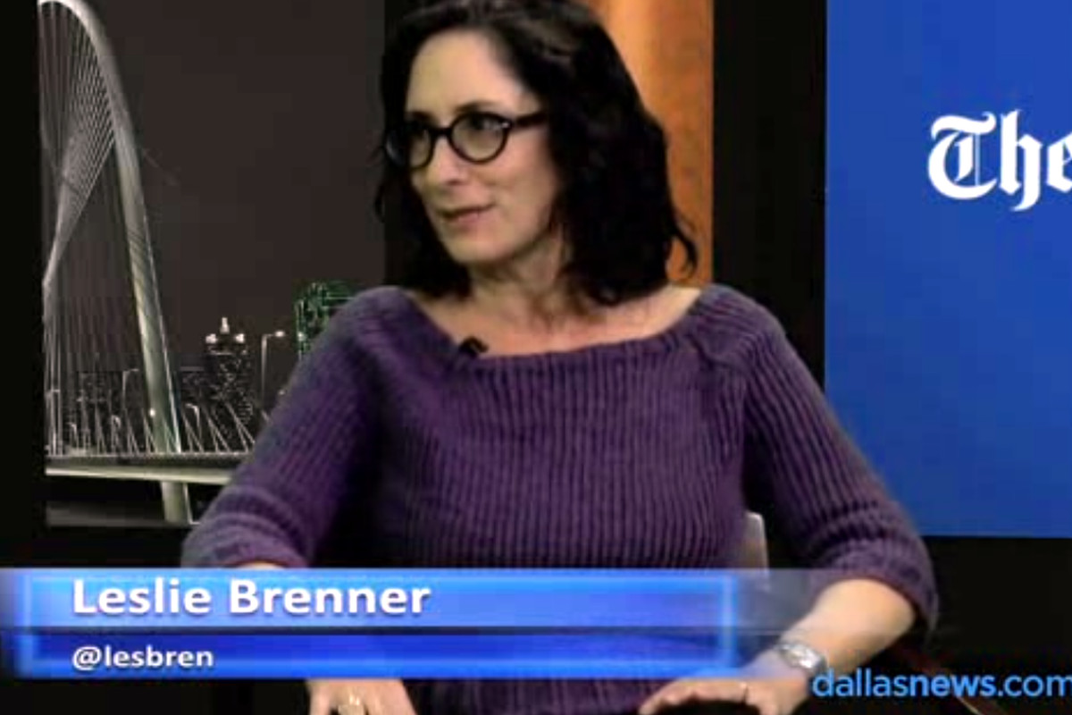 Say hello to Leslie Brenner.