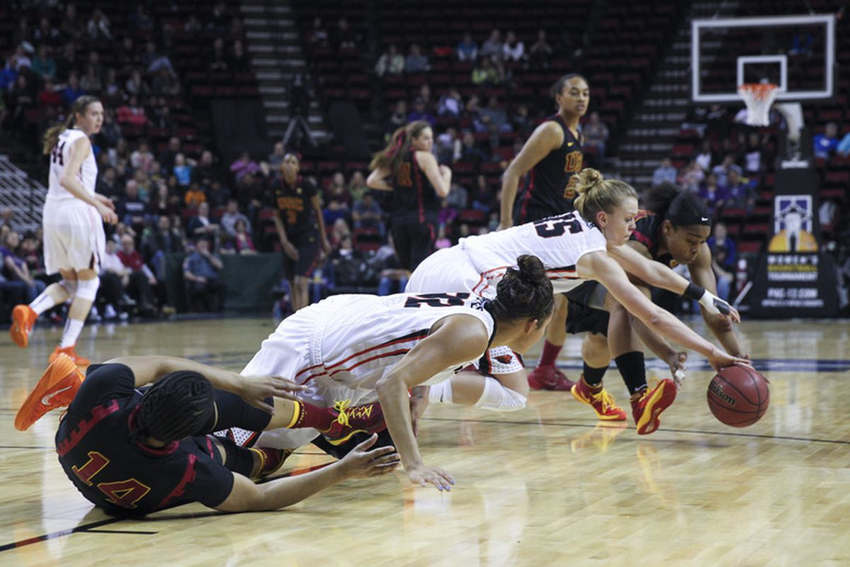The Pac-12 Championship Game was a battle all the way, but in the end, USC came from behind to beat Oregon St.
