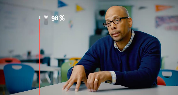 Jim Shelton of the Chan Zuckerberg Initiative in one of the organization's video, saying that the average student will move to 98th percentile with one-on-one tutoring.