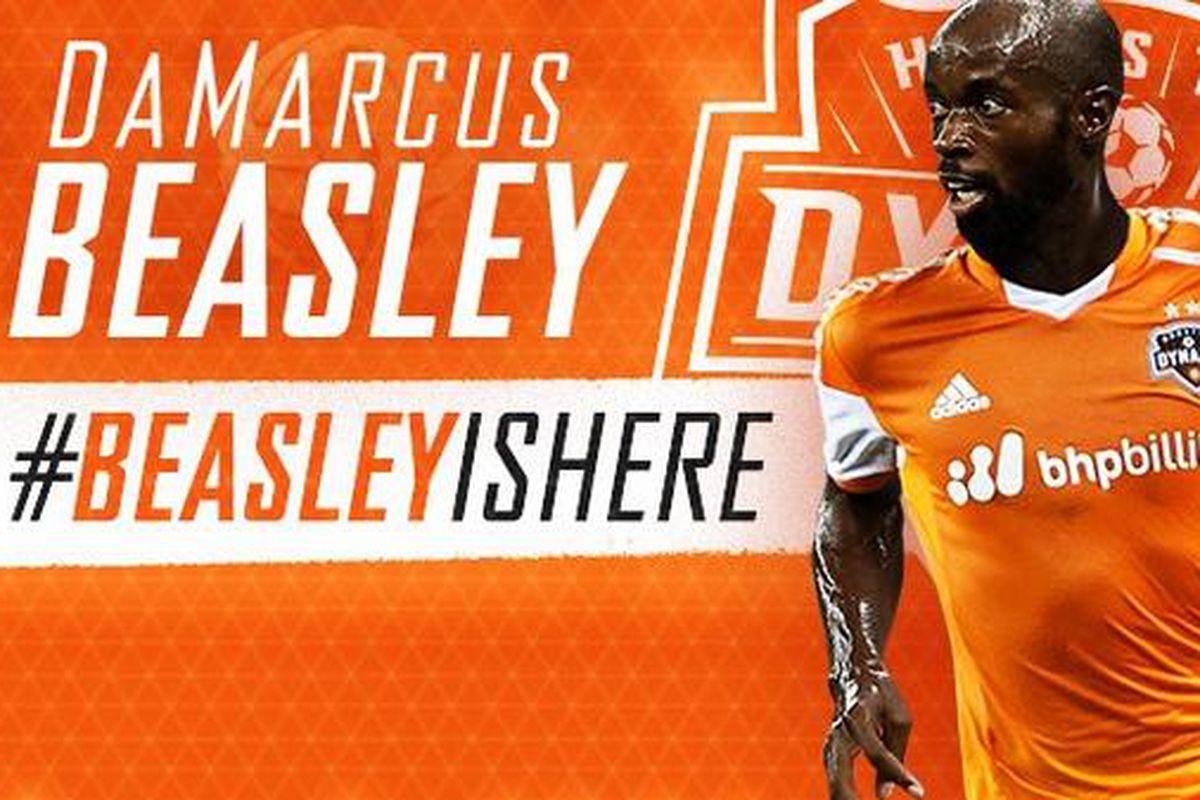 DaMarcus Beasley is a Houston Dynamo, and he's HERE!