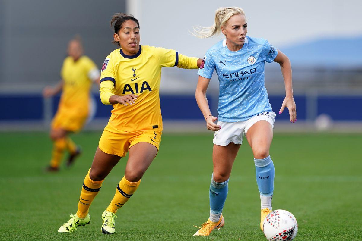 Manchester City v Tottenham Hotspur - Barclays FA Women's Super League - Academy Stadium