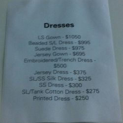 The overstock price list. Ouch.