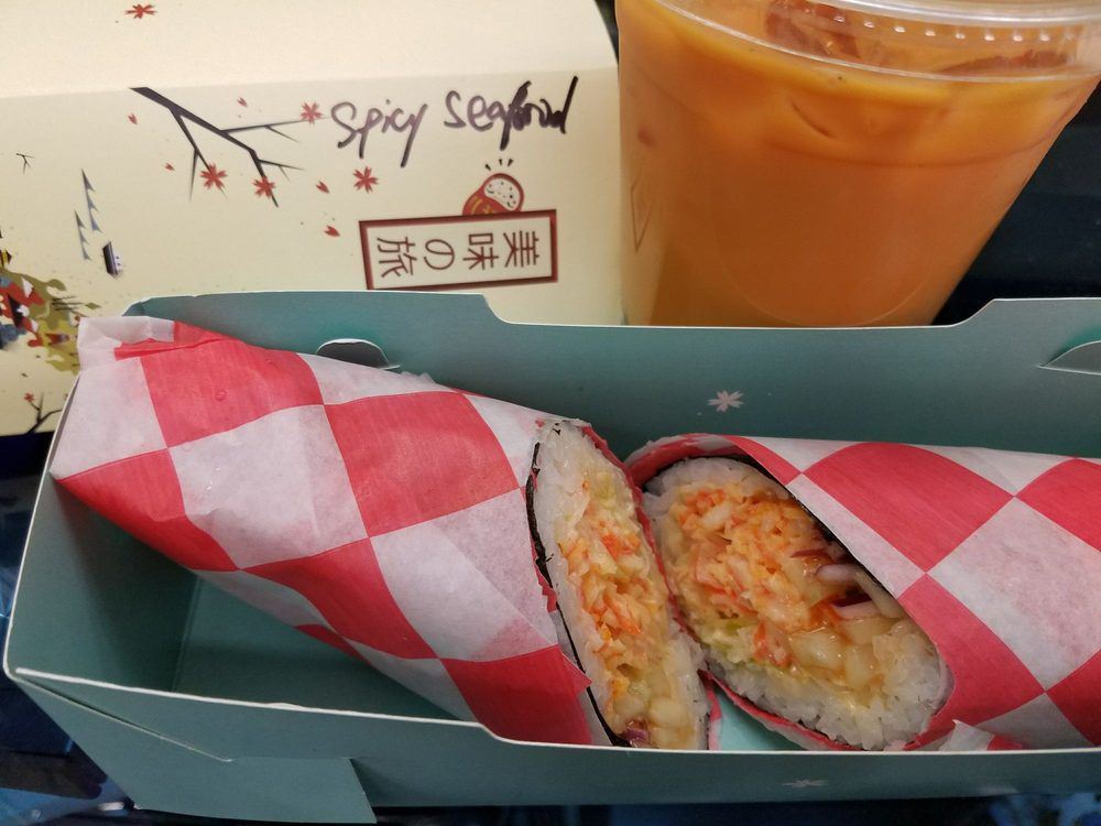 Sushi burrito at Sunny Cafe