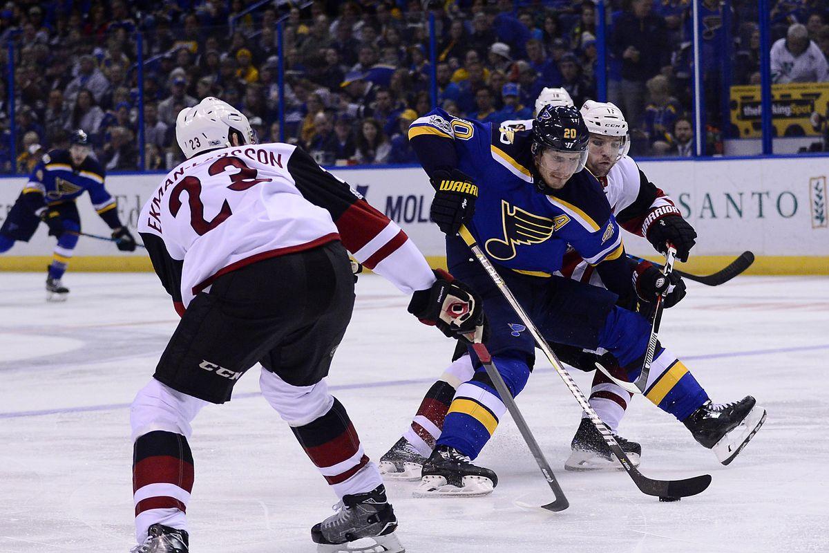 NHL: Arizona Coyotes at St. Louis Blues