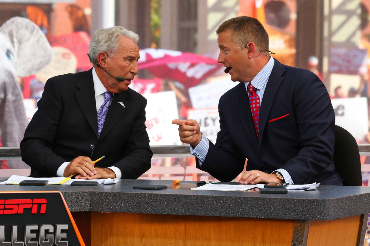 Lee Corso and Kirk Herbstreit breaking it down on College GameDay