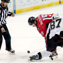 Backstorm and Crosby Faceoff