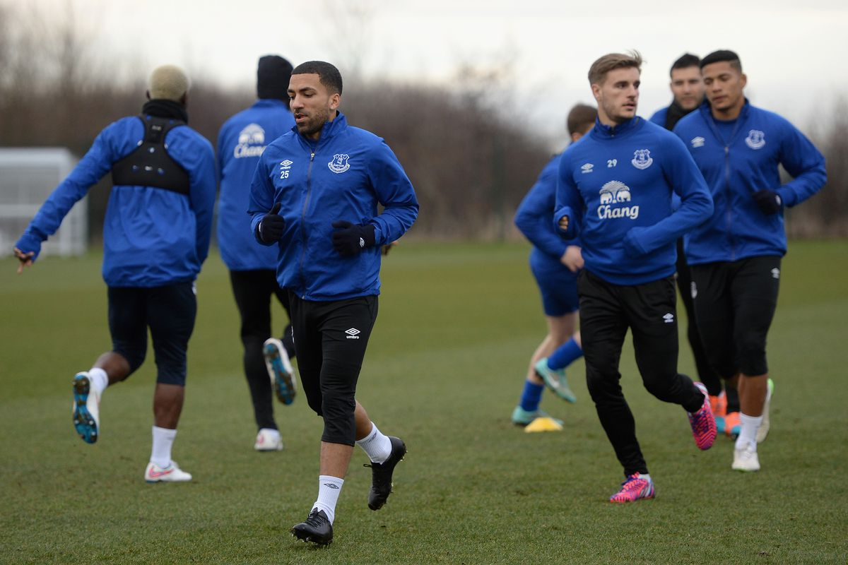 Everton Training and Press Conference