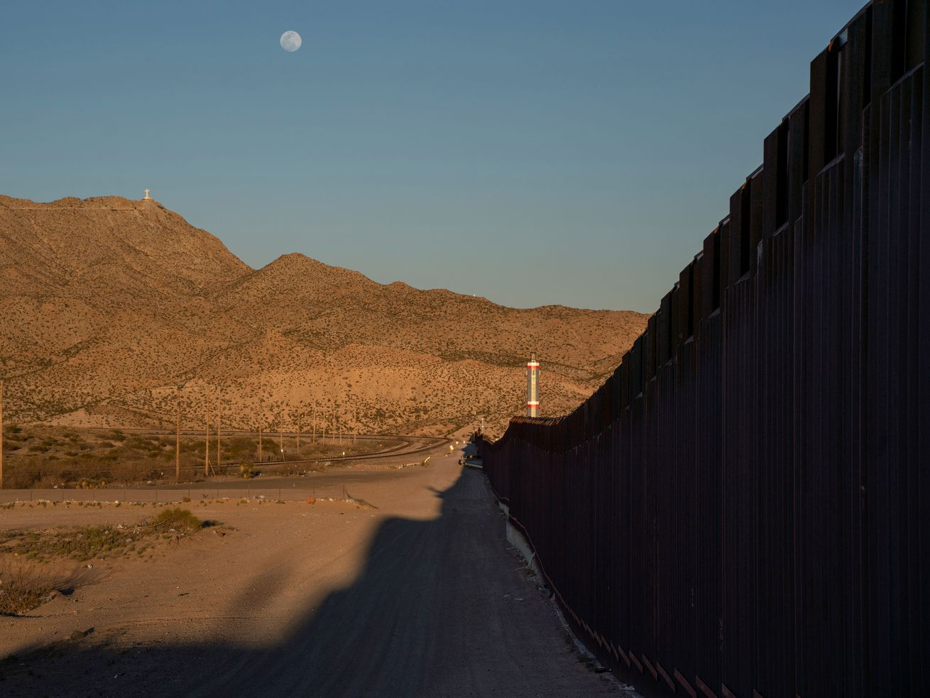 The US-Mexico border, as seen from New Mexico.