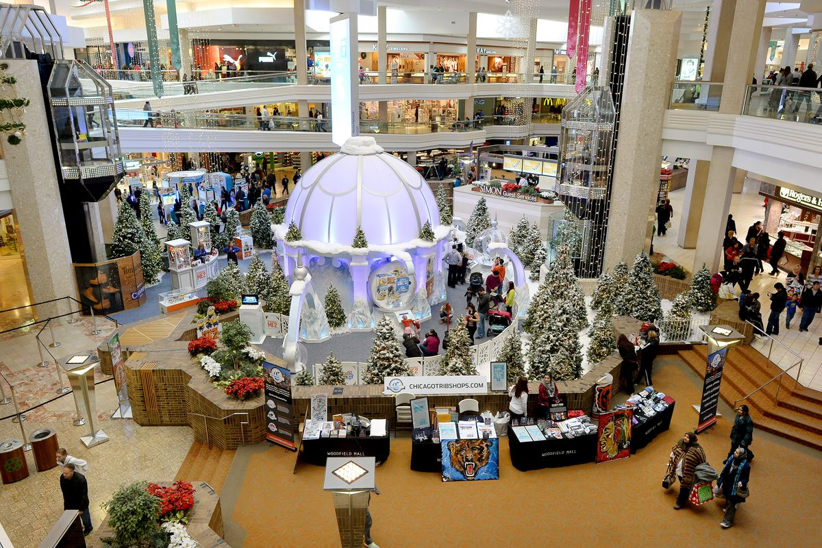 A Thanksgiving Day crowd in 2013 at Woodfield Mall in Schaumburg.