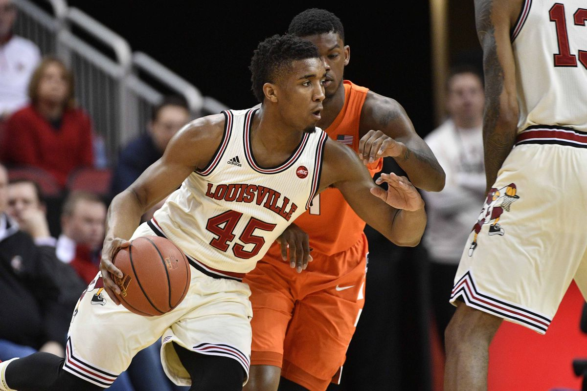 The Detroit Pistons select Donovan Mitchell from Louisville with the No. 12 overall pick in the Blazer's Edge 2017 NBA Mock Draft.