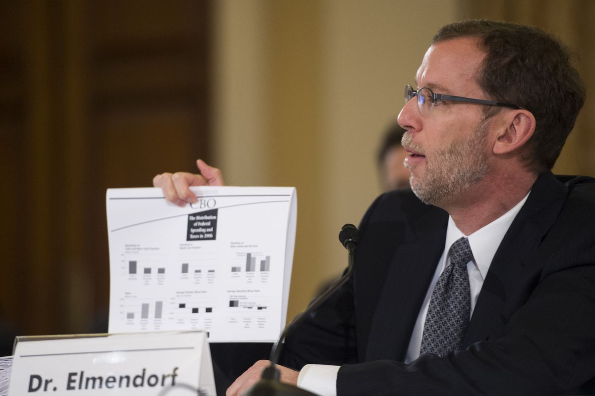 CBO Director Doug Elmendorf and his office say the age of shrinking deficits is nearly over.