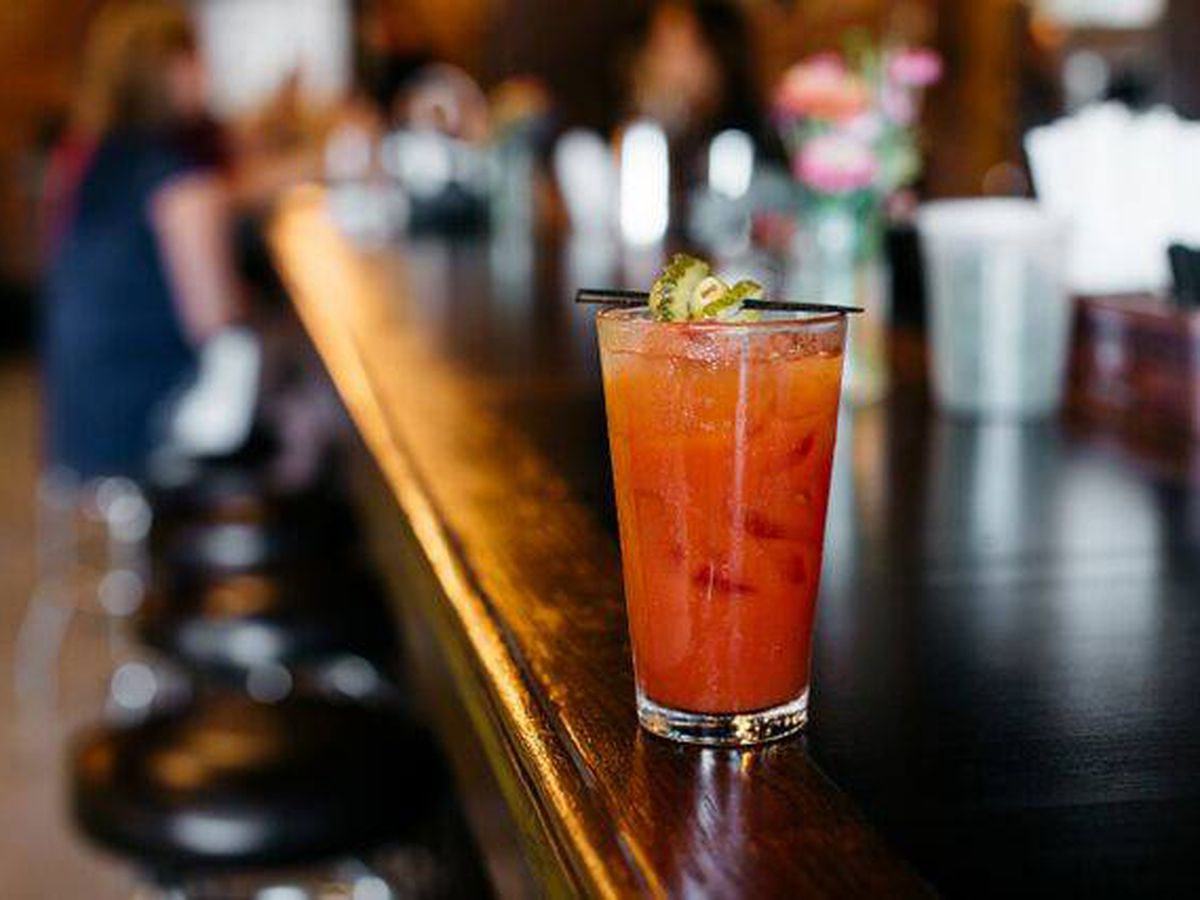 A bloody mary at Bobcat Bonnie's.