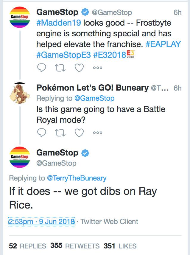 GameStop Ray Rice