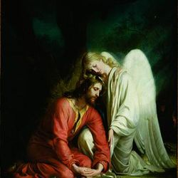 """""""Christ in Gethsemane,"""" an oil on canvas, was painted between 1878 and 1879."""