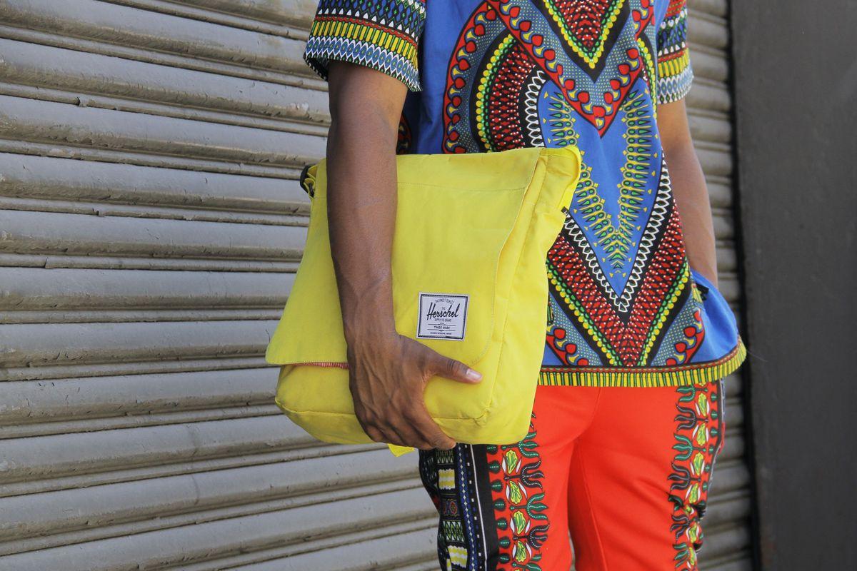 A Herschel case spotted at Men's Fashion Week in July