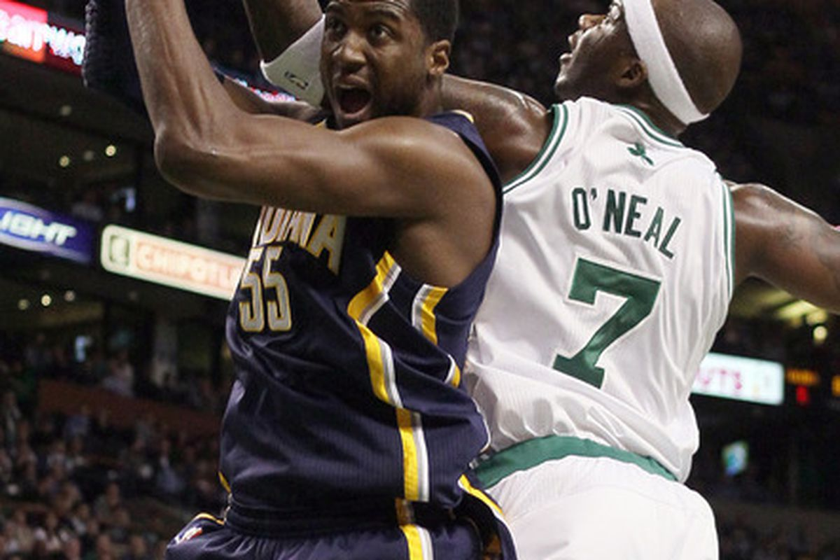 While Jermaine O'Neal led the Pacers in points several times on this date, he helped the Celtics beat his old team on this date in 2012.