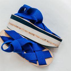 <b>Arielle De Pinto</b> Woven Tape Platform Shoes, $273