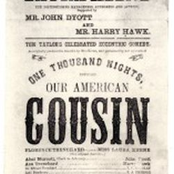 The Playbill from the night Lincoln was shot, one of many artifacts in Keens collection, courtesy of Keens.