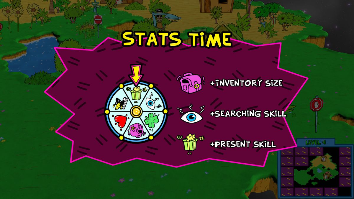 A top-level screen of ToeJam & amp; Earl: Back in the throat