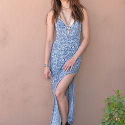 Troian Bellisario in a Forever 21 dress.