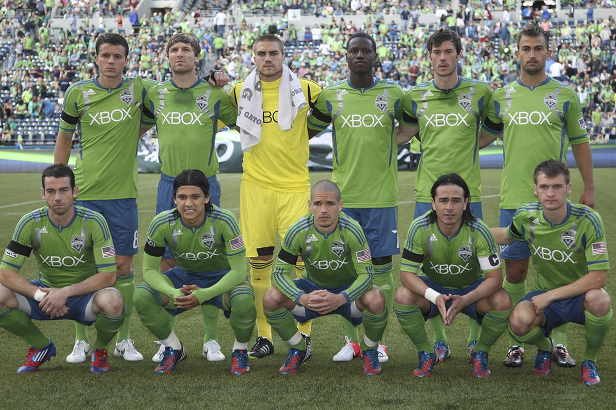 One of the 19 unique lineups Seattle has fielded this season. Yes, 19 in 19 games.