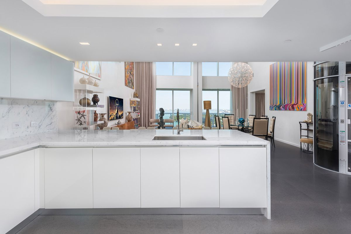 Miami Beach duplex penthouse with pneumatic elevator asks $6.5M ...